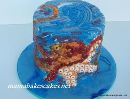 Octopus Mosaic Cake