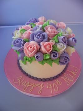 40 Roses Cake